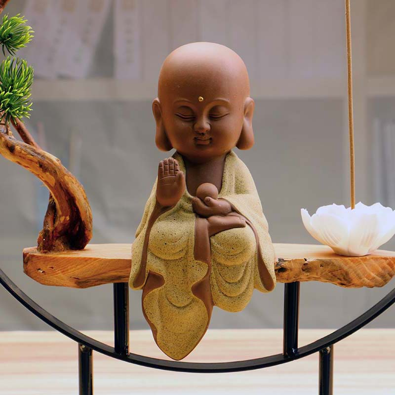 Zen Buddha Incense Burner 6