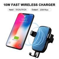 QI Wireless Charger Car Phone Holder 5V 2A Car Charger 10W QC 2 0 Quick Charge