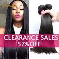 10a brasileiro do cabelo virgem reta 3 pacotes produtos queen hair mink annabelle brazillian tecer cabelo humano em linha reta virgem do cabelo