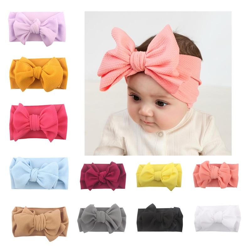 Big Bow Headwrap Baby Headband Bow Knot Headbands Over Sized Bow Hair Turban Newborn Head Band Girl Large Hair Bows