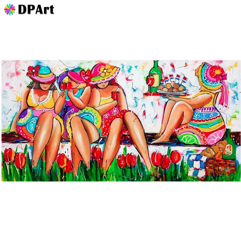 Diamond Painting 5D Full Square/Round Drill <font><b>Fat</b></font> <font><b>Sexy</b></font> Women Beauty Daimond Rhinestone Embroidery Painting Cross Stitch Kit M695 image