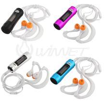 A prueba de agua 4G Pantalla OLED Reproductor de MP3 Reproductor de Música Bajo El Agua Deportes Acuáticos de Radio FM