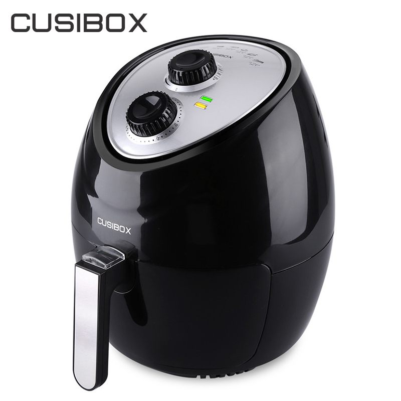 CUSIBOX Electric Deep Fryers 3.6L Household Oil Free Electric Air Fryer Smokeless French Fries Maker Kitchen Cooking Machines 220v 2 6l electric deep fryer household air fryer oil free and smokeless intelligent french fries machine
