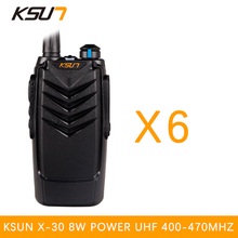 (6 PCS)KSUN X-30TFSI Two way radio Handheld Portable Radio UHF 400-470MHz Ham Radio buxun x30 Walkie Talkie