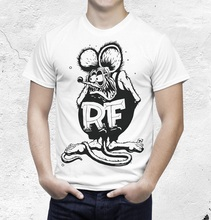 New T Shirts Unisex Funny Tops Tee Short Sleeve Broadcloth Rat Fink Shirt Dragster Raceway Crew Neck Mens