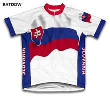 Slovakia Flag Cycling Jersey short sleeve Men's Cycling Clothing/Shirts Men ropa ciclismo mountain bike clothes