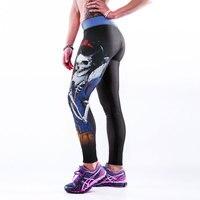 Princesa crânio Esqueleto Da Apple 3D Imprimir Leggings Esportivos de Boa Qualidade Calças Skinny Patchwork Elástico Na Cintura Legging Sexy