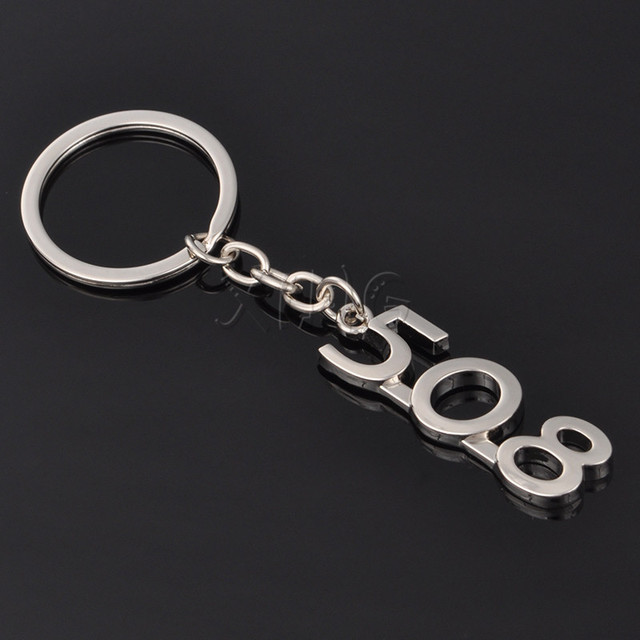 Car Logo Keychain Key Chain Auto Keyring Key Ring Holder Keyfob For Peugeot 206 207 307 308 408 508 3008 Car Styling Accessories