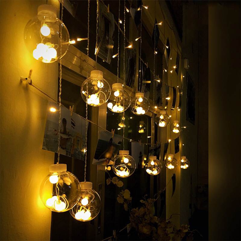 12 LED Globe Bulb LED Ball String LED Lighting Strings Light Bulb Festival Light Window Decoration Wedding Party Supplies
