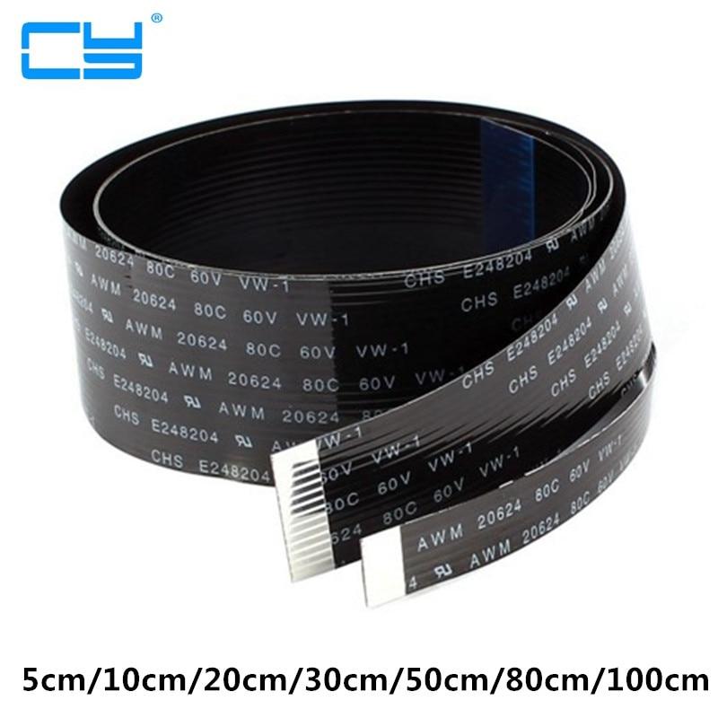 FPV 5 cm 10 cm 20 cm 30 cm 50 cm 80 cm 100 cm FPC Ruban Plat Emplacement De Câble 20pin pour HDMI HDTV Multicopter Photographie Aérienne