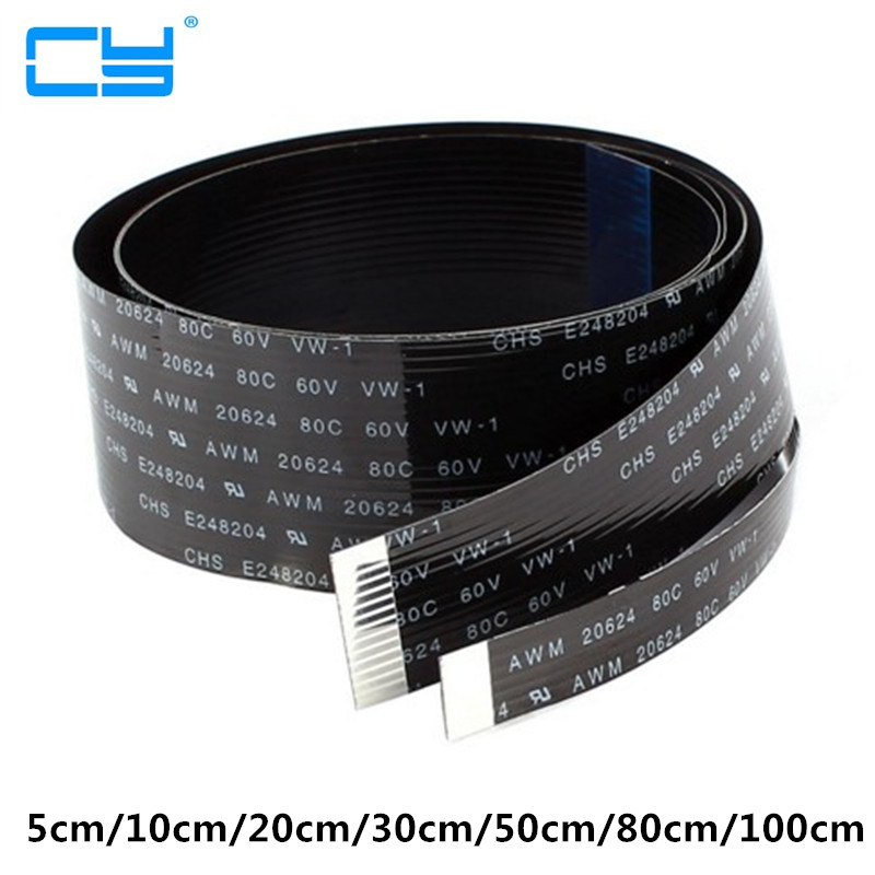 FPV 5cm 10cm 20cm 30cm 50cm 80cm 100cm FPC Ribbon Flat Cable  Pitch 20pin for HDMI HDTV Multicopter Aerial Photography