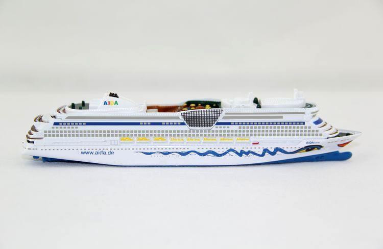 Bateau modèle bateau de croisière aidaluna Aida miniature item 17 cm moulés