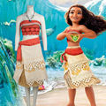 Moana Cosplay Costume Sexy Princess Costume Halloween Suit Movie Moana Costume Adult Women Party Dress Skirt Custom Made