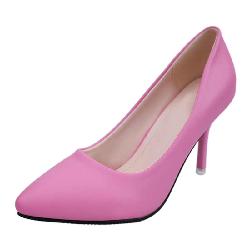 MCCKLE Womens Pointed Toe Fashion Sexy High Heels Ladies Shallow Slip On Office Dress Pumps Female Shoes Plus Size 34-42