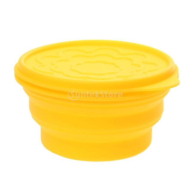 Silicone Folding Cup Bowl Set Outdoor Travel Camping Tool Telescopic Dish Lid