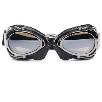 6 kolory Retro w stylu Vintage motocykl Cruiser skuter Biker gogle dla Harley Bobber Chopper kask męskie okulary tanie i dobre opinie evomosa Jeden rozmiar Jasne MULTI Unisex
