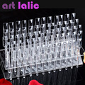 Nuevo 64 Consejos Pop Sticks Nail Art Consejos Claros Expositor Esmalte de Uñas Práctica Formativa Herramienta de Muestras de Color
