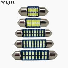 цена на WLJH 4pcs Car Interior Light 28mm 31mm 36mm 39mm 41mm LED Bulbs C10W C5W Festoon Vanity Mirror Dome Reading Door Number Light