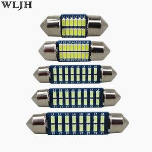 WLJH 4x Car Interior Light 28mm 31mm 36mm 39mm 41mm LED Bulb SV8.5 C10W C5W Festoon Vanity Mirror Dome Reading Door Number Light