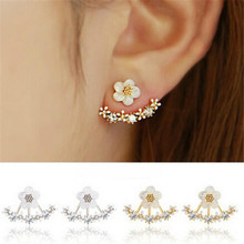 2018 Fashion Jewelry Cute Cherry Blossoms Flower Stud Earrings for Women Several Peach