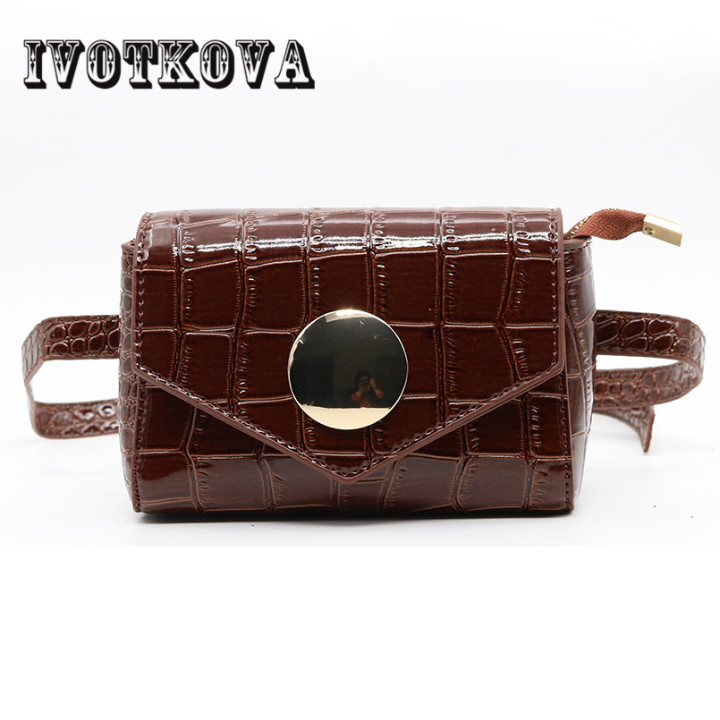 IVOTKOVA Fashion Waist Bag Pattern Women Shoulder Bags Waist Pack Adjustable Female Waist Belt Pu Funny Bags Drop Shipping