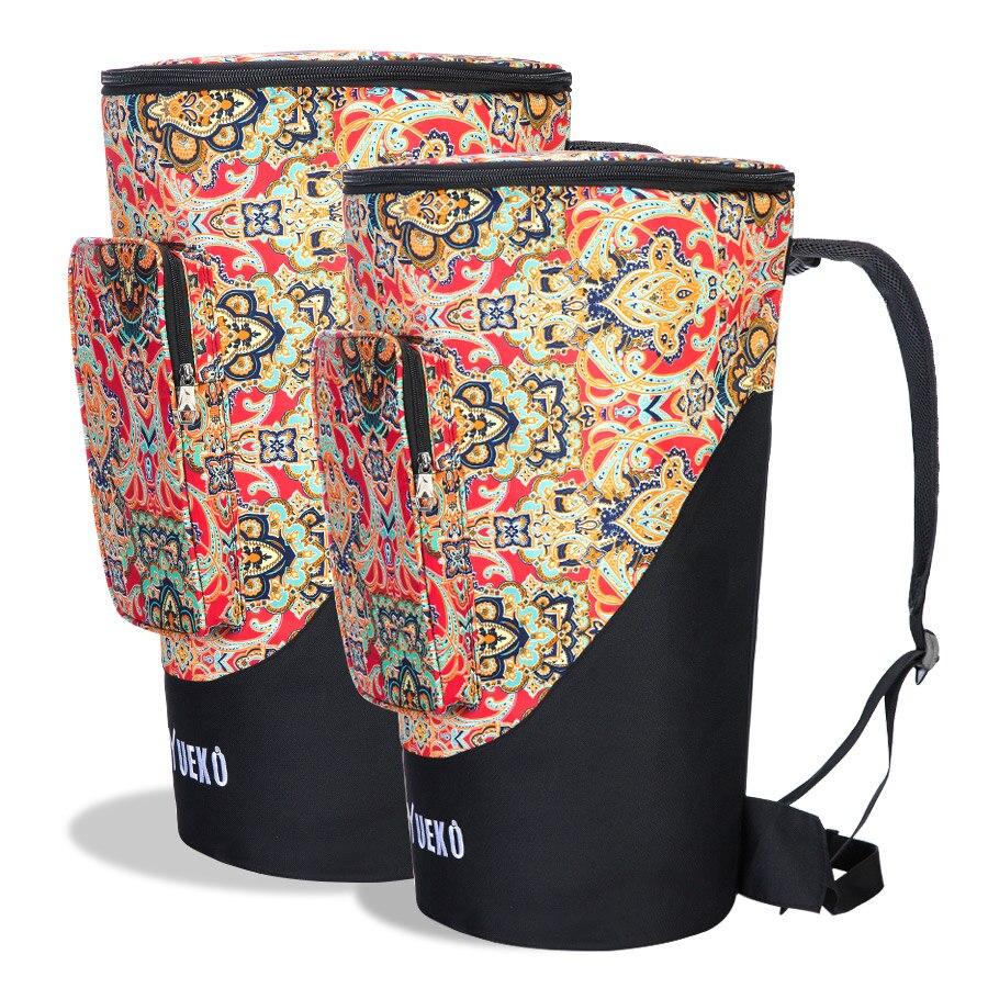 2018 nouveau sac djembé sangles d'épaule robustes sac de tambour africain de haute qualité et durable construction Triple couche 10 pouces 12 pouces