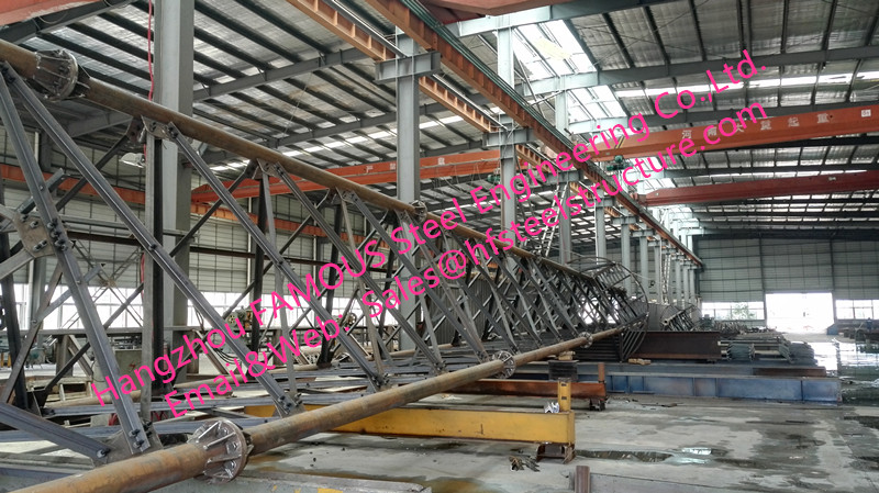 Structural Steel Monopole Towers And Lattice Towers Steel Pole For Wind Power Plant Production Line And Telecommunication