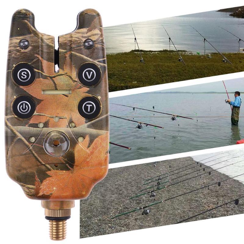 2 светодиодный Рыбалка предупреждения укус сигнализация СВЕТОДИОДНЫЙ свет горит индикатор для морской озера рок рыболовные снасти аксессу...