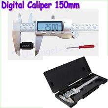 1pcs 6″ 150mm Metal Housed Digital Vernier Caliper