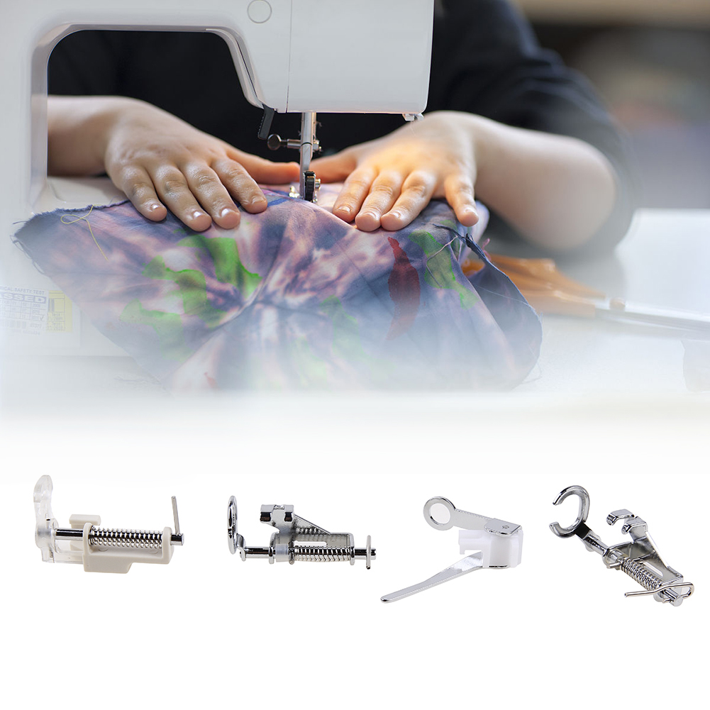 4Pcs/set Sewing Machine Darning Foot Presser Foot Close Open Toe Quilting Foot Household Sewing Tools Accessories