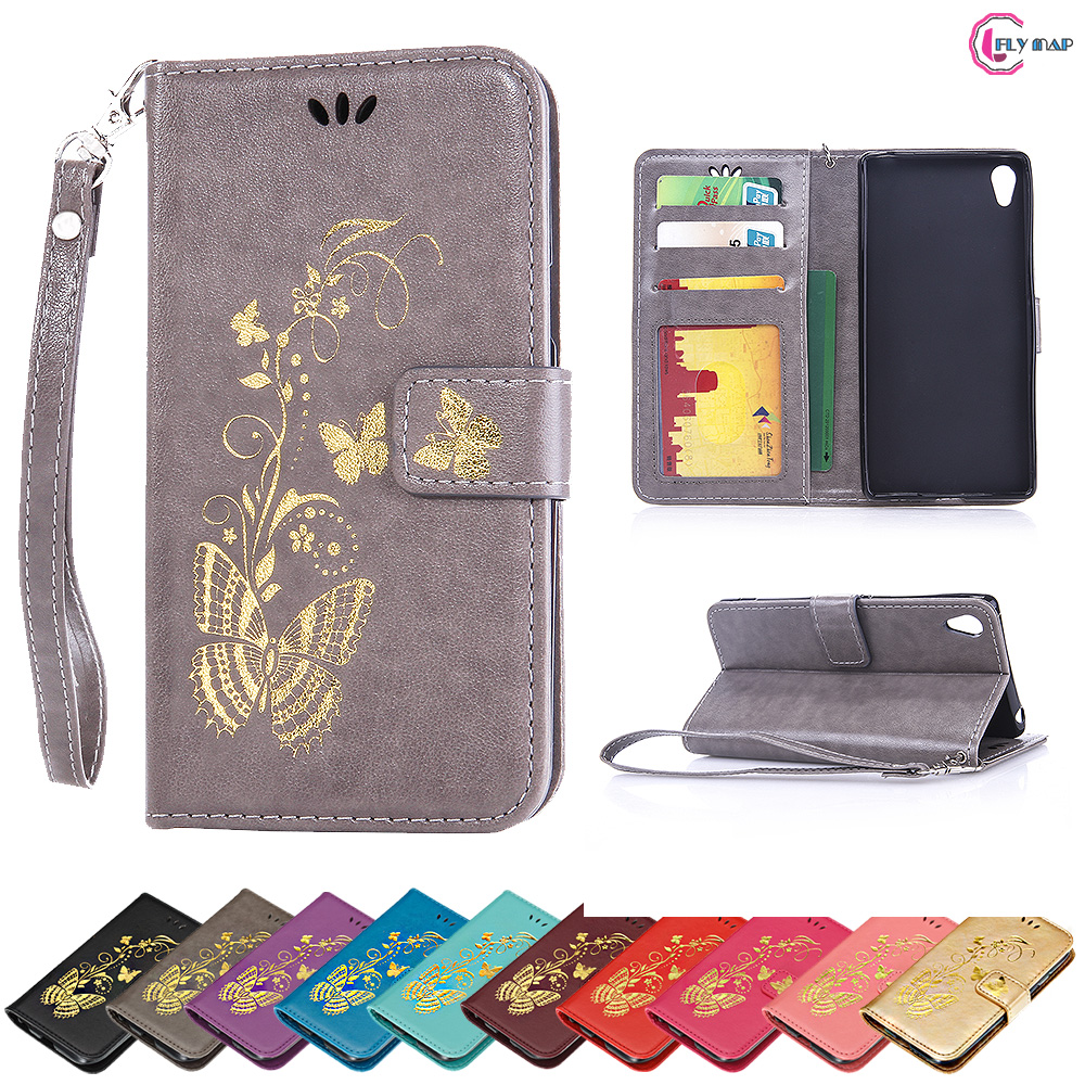 Flip Case for Sony Xperia Z4 E6553 E6533 Butterfly Case Wallet photo frame Phone Leather ...