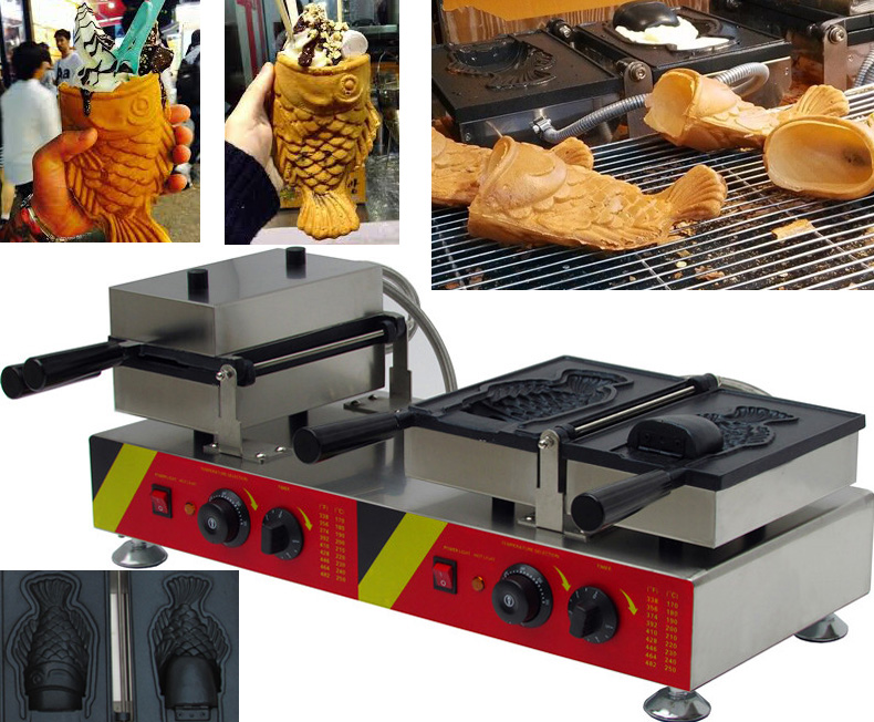 Pizza cone waffle machine fish shaped taiyaki maker in for Pizza and fish express