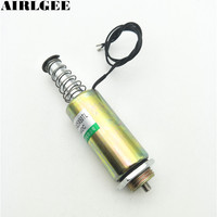 High Quality DC 24V 10mm 1 0Kg Push Pull Type Tubular Motion Solenoid Electromagnet Free Shipping