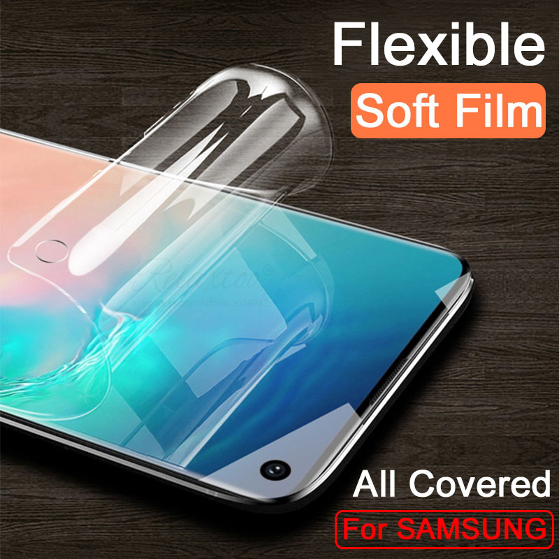 tempered glass for <font><b>Samsung</b></font> Galaxy S10 S11 Plus S10E S11E soft hydro film Screen protector on for Galax s10+ S11+ s 10 <font><b>10e</b></font> 11 11e image