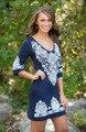 Womensdate 2017 venta caliente de la manera mujeres del verano étnico dress vintage imprimir sexy delgado de la cadera de bodycon dress party vestido navy dress