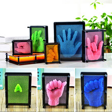 1PC 3D Clone Pin Art Plastic Toy Funny Game Pinart Home Decoration Birthday Present Colorful Needle Child Get Face Palm Model 3d clone shape pin art toy sculpture creative changeable pinscreen needle mold for children adult yjs dropship