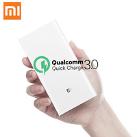 Original Xiaomi 20000mAh Xiaomi Power Bank 2C Quick Charging Support QC3.0 Dual USB Mi External Battery Bank for Smart Device