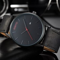 2017 Stylish Black Casual Watch Men Luxury Brand GIMTO Fashion Trend Quartz Men S Watches Genuine