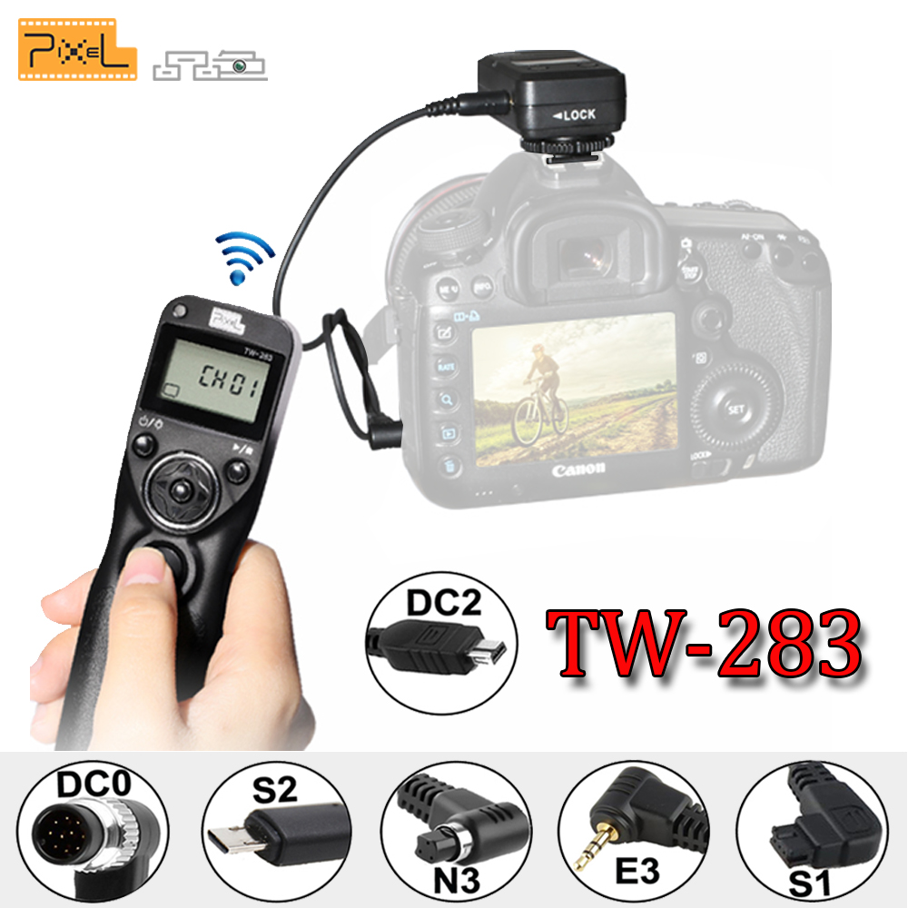 Pixel TW-283 TW283 For Canon Nikon D3100 D7100 D7000 D5100 D5000 Sony Camera Wireless Timer Remote Shutter Release Control Cable jjc cable f shutter release cable for sony rm s1am a900 a850 a700 a580 black
