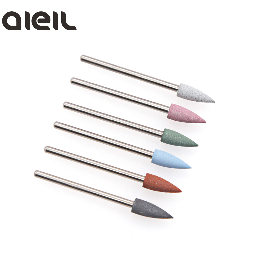 Image 2 - 6PCS Silicone Milling Cutter for Manicure Set Nail Drill Bit Set Milling Cutter Nail Milling Cutters for Pedicure Nail Art Tools-in Electric Manicure Drills from Beauty & Health