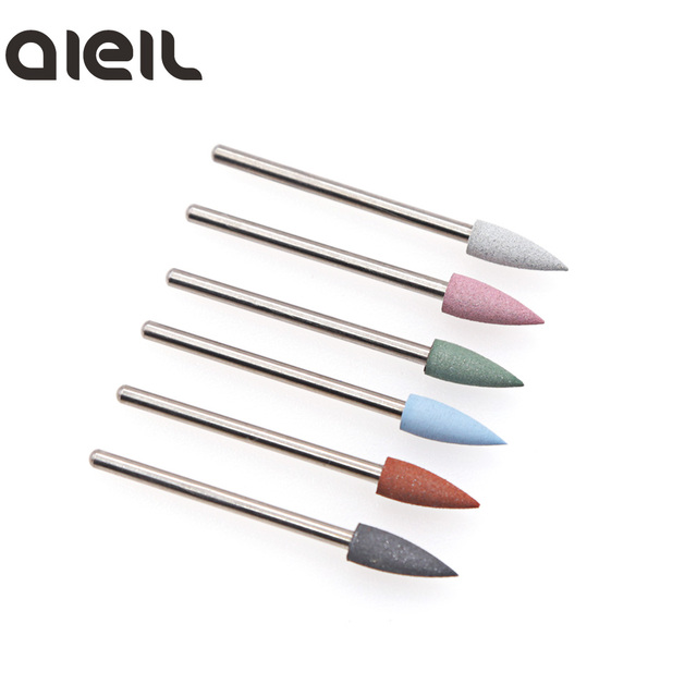 6PCS Silicone Milling Cutter for Manicure Set Nail Drill Bit Set Milling Cutter Nail Milling Cutters for Pedicure Nail Art Tools 1