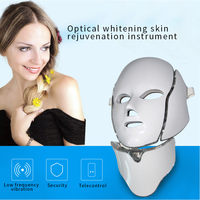 Foreverlily LED Facial Mask Therapy 7 Colors Face Mask Machine Photon Therapy Light Skin Care Wrinkle Acne Removal Face Massage