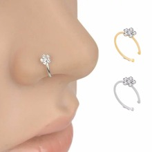 Indian Flower Nose  Piercing Ring
