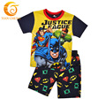 2016 Summer Spiderman Baby Boy Shorts Set 100% Cotton Kids Clothes superman 2pcs Pajamas Set Character Boys Summer Clothes