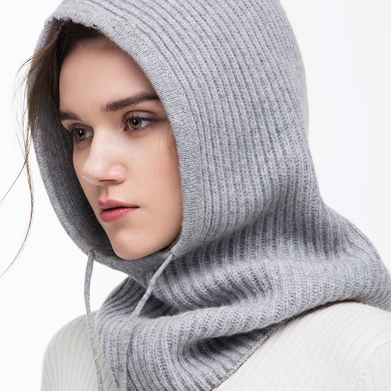 Xthree Winter Wool Knitted Scarf Hat Set Beanie Women Scarf Skullies Beanies Hats For Women Men Caps Gorras Bonnet Mask 5
