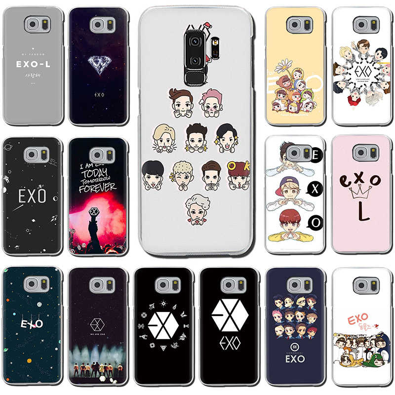 Kpop exo Lucky one Hard phone case for Samsung S6 S7 Edge S8 S9 S10 Plus S10e Note 8 9 M10 M20 M30
