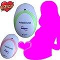 A La Venta Portátil Baby Sound Fetal Doppler Ángel Embarazada Del Golpe de Corazón Del Monitor Del Auricular Cable USD Rosa/Verde