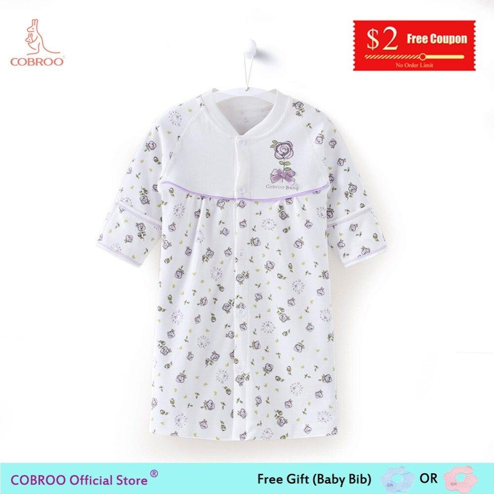 6 9 Mt Neugeborene Baby-kleidung Baby Schlafanzug Mädchen Nachtwäsche Bademäntel Baumwolle Sommer Bademäntel Für Kinder Nachthemden Floral Ny10014 SchöN Und Charmant