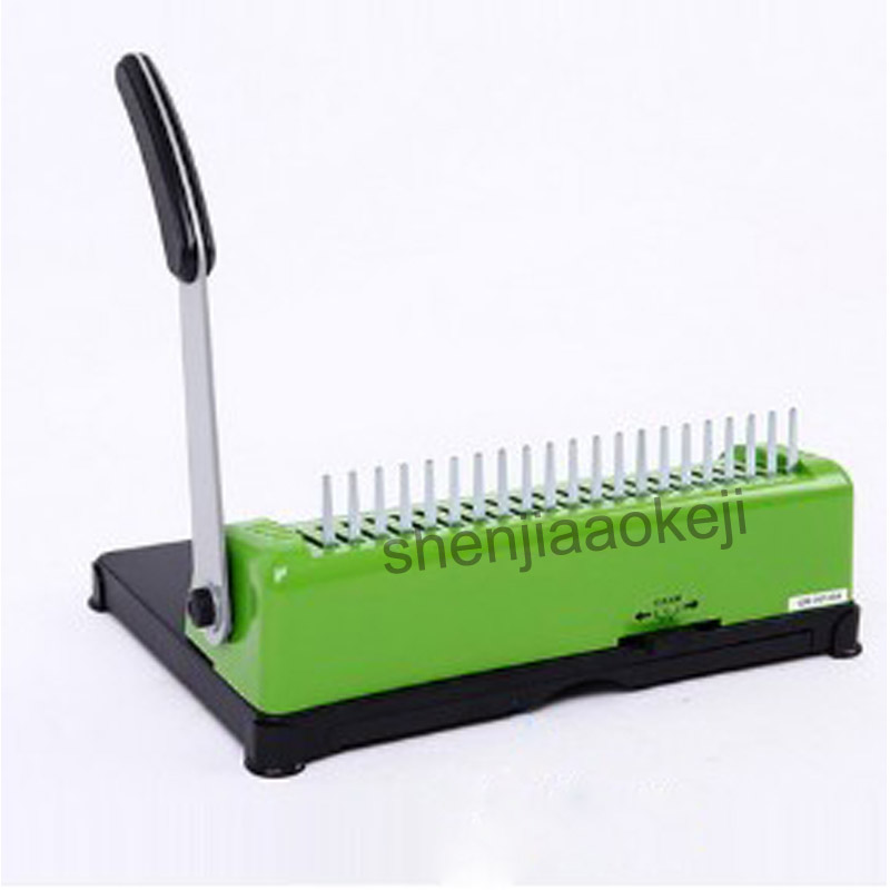 SD-17 A4 size rubber ring Binding Machine Clip Bar Punching Machine manual Binder Comb Binding Machine 1pc comb binding machine book binder manual comb hole punch wire binding machine office supply tool