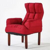 Ткань обивочная в современном стиле диван, кресло Гостиная мебель раскладное кресло лежащего назад руку кресло акцент с деревянными ножкам